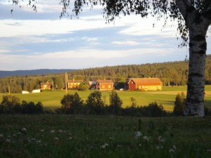 Kvälssol i Dalarna