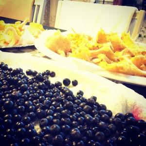 Kantarell och blåbär